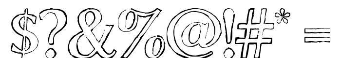 ChalkLine-Outline Font OTHER CHARS