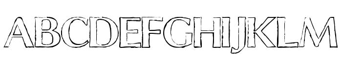 ChalkLine-Outline Font UPPERCASE