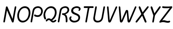 ChalkMarks-Italic Font UPPERCASE