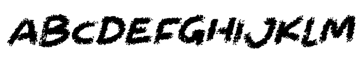 Chalkabout Italic Font UPPERCASE