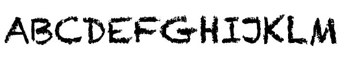Chalkduster Font UPPERCASE