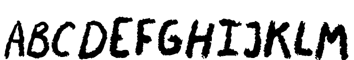 Chalky Chicken Font UPPERCASE