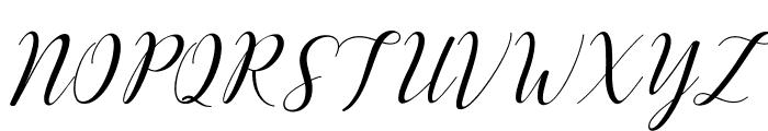 Challista Font UPPERCASE