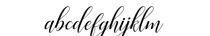 Challista Font LOWERCASE