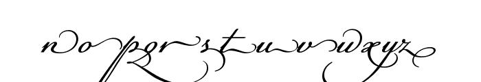 Champignon Alt Swash Font LOWERCASE