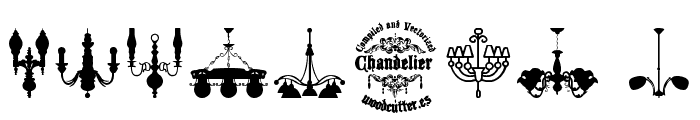 Chandelier Font OTHER CHARS