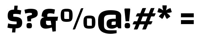 Changa Bold Font OTHER CHARS