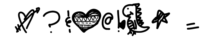 ChangeOfHeart Font OTHER CHARS