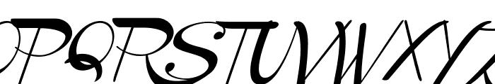 Channel Slanted 2 Font UPPERCASE