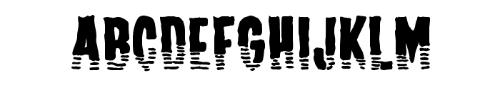 Channel Tuning Font UPPERCASE