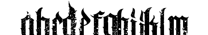 Chaos and Pain Font LOWERCASE