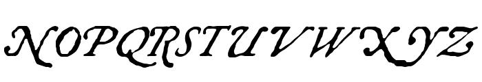 Chapbook-Italic Font UPPERCASE