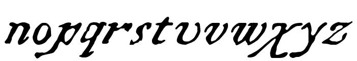 Chapbook-Italic Font LOWERCASE