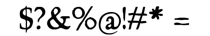 Chapbook-Regular Font OTHER CHARS