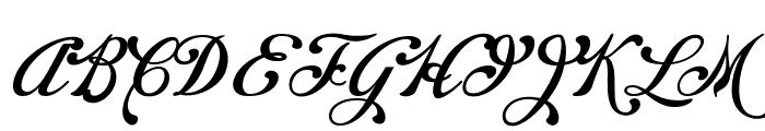 Chapel Script PERSONAL USE Font UPPERCASE