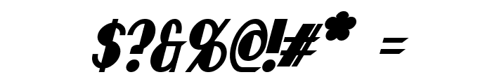 Chapleau Bold Italic Font OTHER CHARS