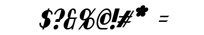 Chapleau Italic Font OTHER CHARS