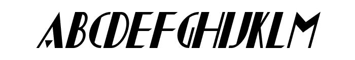 Chapleau Italic Font UPPERCASE