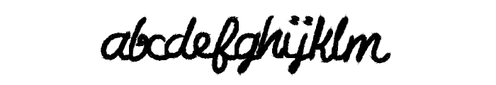 CharcoalScript Font LOWERCASE