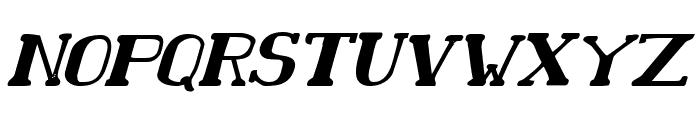 Chardin Doihle Bold Italic Font UPPERCASE