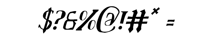 Chardin Doihle Condensed Italic Font OTHER CHARS