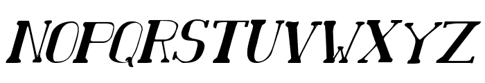 Chardin Doihle Condensed Italic Font UPPERCASE