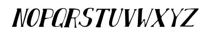 Chardin Doihle Condensed Italic Font LOWERCASE