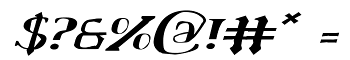 Chardin Doihle Expanded Italic Font OTHER CHARS