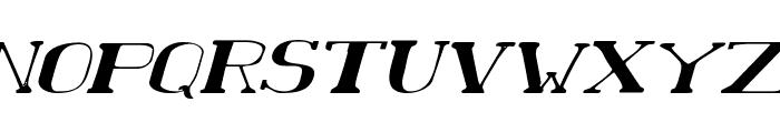 Chardin Doihle Expanded Italic Font UPPERCASE
