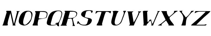 Chardin Doihle Expanded Italic Font LOWERCASE