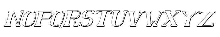 Chardin Doihle Shadow Italic Font UPPERCASE