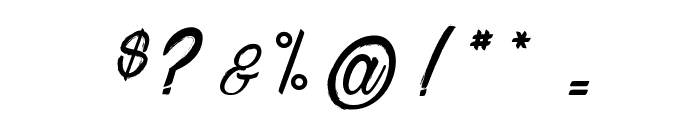 Chardons Brush Font OTHER CHARS