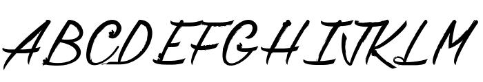 Chardons Brush Font UPPERCASE