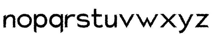 Charger Distortion 1 Font LOWERCASE