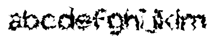 Charger Distortion 2 Font LOWERCASE