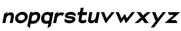 Charger EcoBlack Oblique Font LOWERCASE