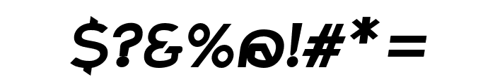 Charger ExtraBold Italic Font OTHER CHARS
