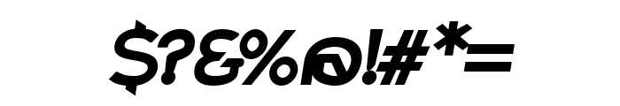 Charger Pro Black Extended Oblique Font OTHER CHARS