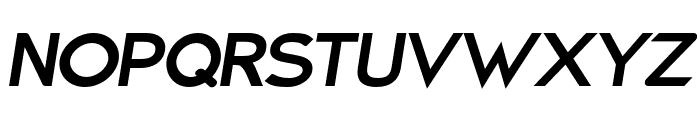 Charger Pro Black Extended Oblique Font UPPERCASE