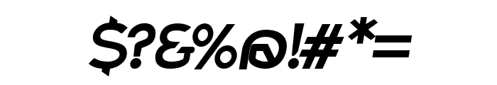 Charger Pro Extrabold Extended Oblique Font OTHER CHARS
