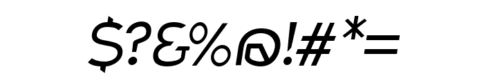 Charger Pro Light Extended Oblique Font OTHER CHARS