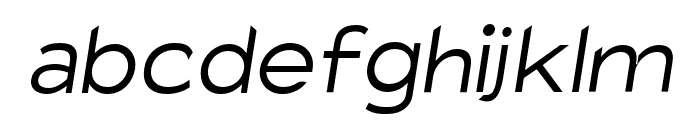 Charger Pro Light Extended Oblique Font LOWERCASE