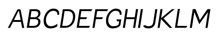 Charger Pro Light Oblique Font UPPERCASE