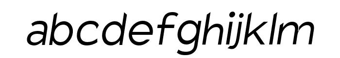 Charger Pro Light Oblique Font LOWERCASE