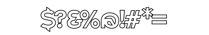 Charger Pro Outline Font OTHER CHARS