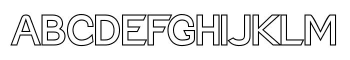 Charger Pro Outline Font UPPERCASE