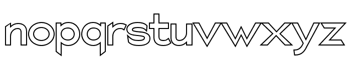 Charger Pro Outline Font LOWERCASE