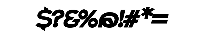 Charger Pro Ultrablack Extended Oblique Font OTHER CHARS