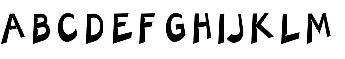 Charger Slice Font UPPERCASE