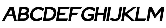 Charger Sport Black Extended Oblique Font UPPERCASE